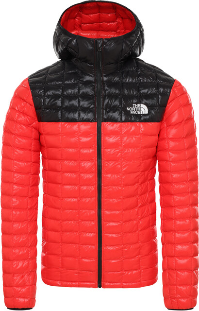 The North Face ThermoBall Eco Hoodie Jacke Herren fiery redtnf black